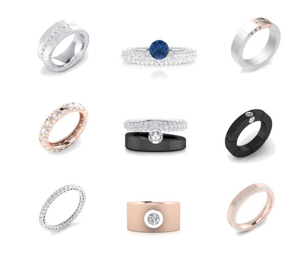 Clemencia Peris wedding rings